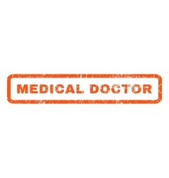 Medical Doctor Rubber Stamp vector