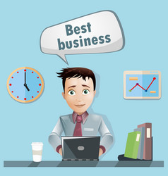 Men in office tell about best business vector