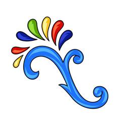 Mexican ornamental swirl vector
