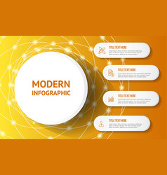 modern infographic with yellow background template vector image