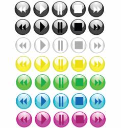 music buttons icons vector image vector image