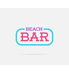 Neon Bar Sign can be used as Logo or Icon vector