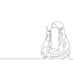one continuous line drawing young beauty asian vector image