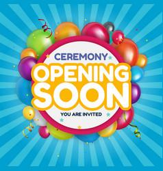 Opening soon invitation card vector