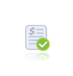 paid bill invoice icon on white vector image
