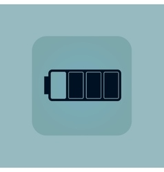 Pale blue almost battery icon vector