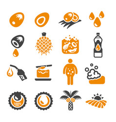 Palm oil icon vector