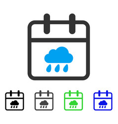 Rainy day flat icon vector