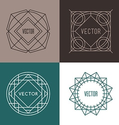 Set of Minimal Geometric Vintage Labels vector image