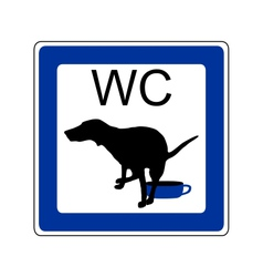 Sign dog toilet vector