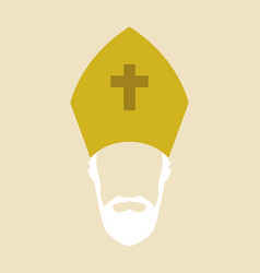 simple graphic of a roman catholic archbishop vector image
