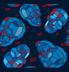 skull polygon seamless background vector image