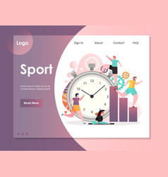 sport website landing page design template vector image
