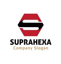 Supra hexa design vector