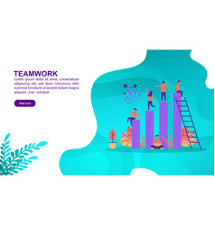 teamwork concept with character template for vector image