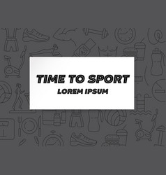 time to sport horizontal pattern vector image