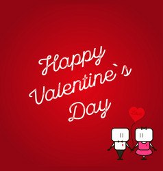 to valentine39s day february 14 on red background vector image