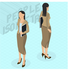 Trendy young businesswoman vector