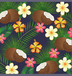 tropical garden with coconut vector image
