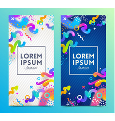 two abstract festive multicolored banners vector image
