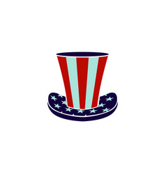 usa flag hat graphic design template isolated vector image