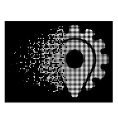 White disappearing pixelated halftone service vector