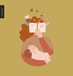 World book day breastfeeding vector