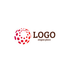 Abstract dotted logo template vector