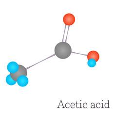 acetic acid 3d molecule chemical science vector image