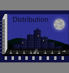 distribution vector image vector image