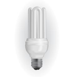 Energy saving light bulb vector image vector image