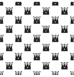 kingly crown pattern vector image vector image
