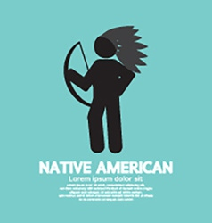 Native American With Weapon Black Symbol Graphic vector image