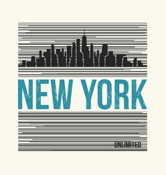 new york city t-shirt design vector image vector image