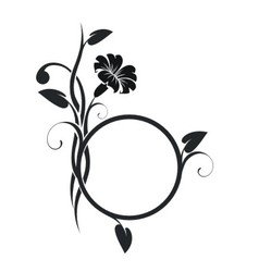 Ring with floral decor vector image vector image