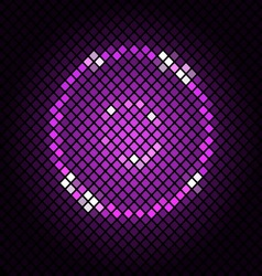 Abstract mosaic with violet background vector image