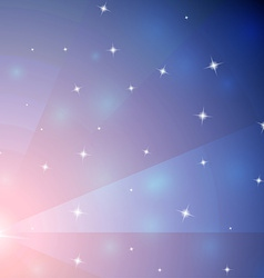 Abstract pink and blue mosaic galaxy with vector image vector image