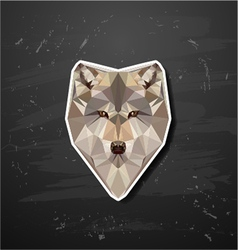 abstract triangle polygonal wolf snout origami vector image