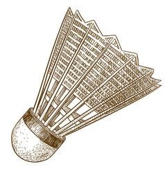 engraving antique of shuttlecock vector image vector image