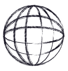 globe world icon in monochrome blurred silhouette vector image vector image