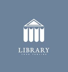 library logo vector image vector image