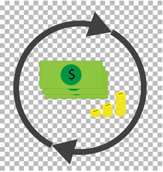 money convert transparent currency converter vector image