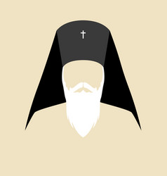 simple graphic of an orthodox archbishop vector image vector image