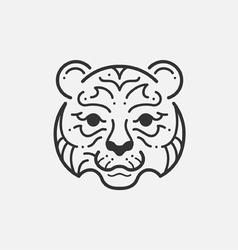 Tiger Line Mono vector image