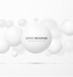 White realistic sphere vector