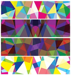 Abstract triangles banner vector image