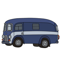 funny old van vector image