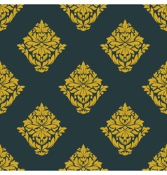 Seamless abstract yellow victorian flowers pattern vector image vector image