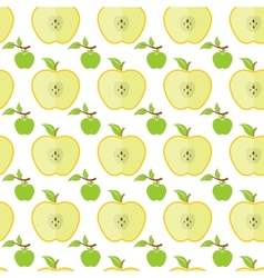 Seamless pattern with big and small green apples vector image vector image