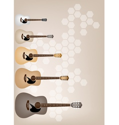 Set of Elegance on Beautiful Brown Background vector image vector image